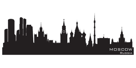 Moscow, Russia skyline.  Vector