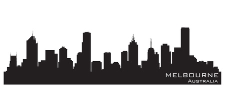 Melbourne, Australia skyline. Detailed vector silhouette Stock Vector - 14917308