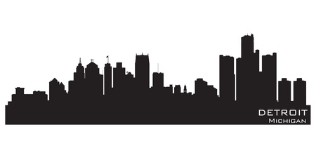 Detroit, Michigan skyline.  Vector