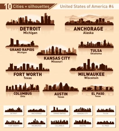 columbus: Skyline ciudad asentada. 10 ciudades de EE.UU. # 4