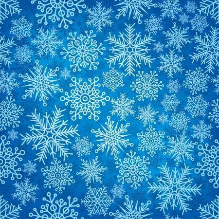 Patrón sin fisuras con los copos de nieve del Año Nuevo.