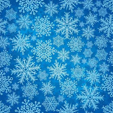 endless: Seamless pattern with New Years snowflakes. Illustration