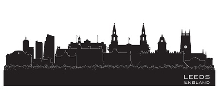 leeds: Leeds, England skyline Illustration