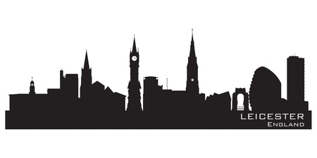 Leicester, England skyline. Detailed silhouette. Vector illustration Vector