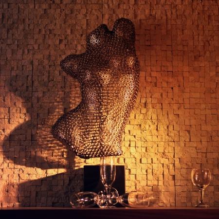 hauberk: Hauberk in the interior of the bar