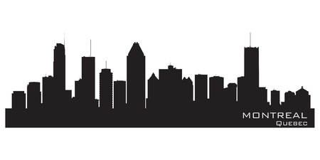 quebec: Montreal, Canada skyline. Detailed silhouette. Vector illustration