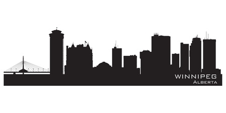 Winnipeg, Canada skyline. Detailed silhouette. Vector illustration Illustration