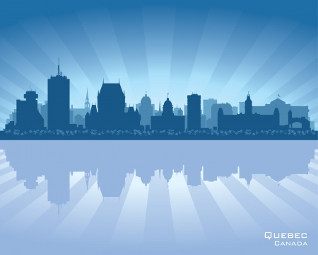 Quebec, Canada skyline with reflection in water Stock Vector - 17023535