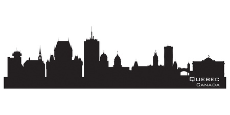 Quebec, Canada skyline. Detailed silhouette  Vector