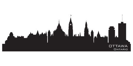 ottawa: Ottawa, Canada skyline  Detailed silhouette  Vector illustration Illustration