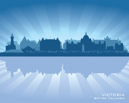 Victoria, Canada skyline with reflection in water Stock Vector - 17060537