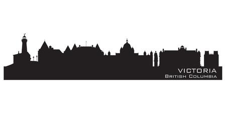 Victoria, Canada skyline  Detailed silhouette  Vector illustration Vector