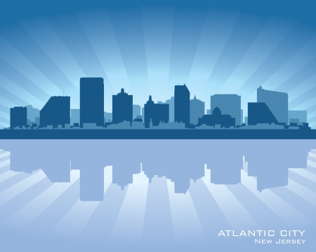 Atlantic City, New Jersey skyline silhouette.  Stock Vector - 17299415