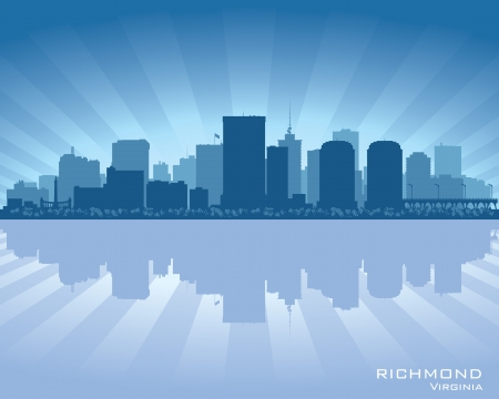 Richmond, Virginia skyline city silhouette Vector