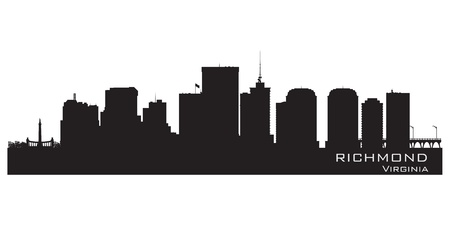 virginia: Richmond, Virginia skyline. Detailed city silhouette. Vector illustration