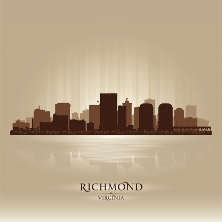 virginia: Richmond, Virginia skyline city silhouette