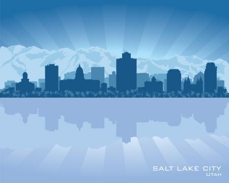 Salt Lake City, Utah skyline stad silhouet