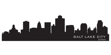silhouette america: Salt Lake City, Utah skyline. Detailed city silhouette. Vector illustration Illustration