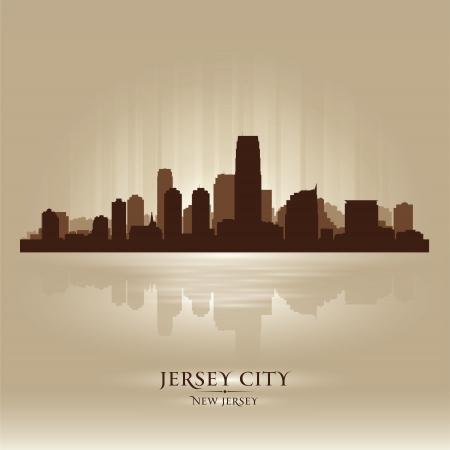 jersey city: Jersey City, New Jersey skyline city silhouette