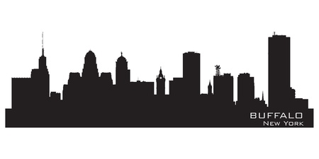 city line: Buffalo, New York. Detailed city silhouette. Vector illustration Illustration