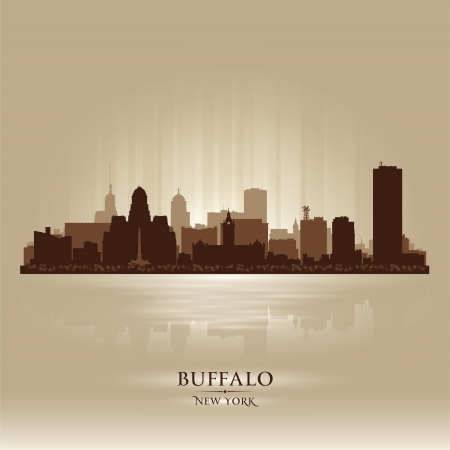 Buffalo, New York skyline city silhouette Stock Vector - 17598757