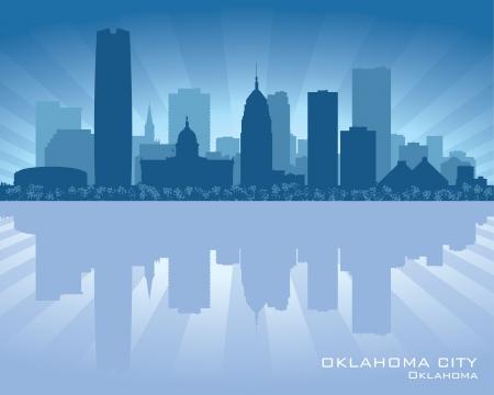 oklahoma: Oklahoma City skyline silhouette