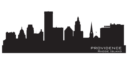 Providence, Rhode Island skyline. Detailed city silhouette. Vector illustration Vector