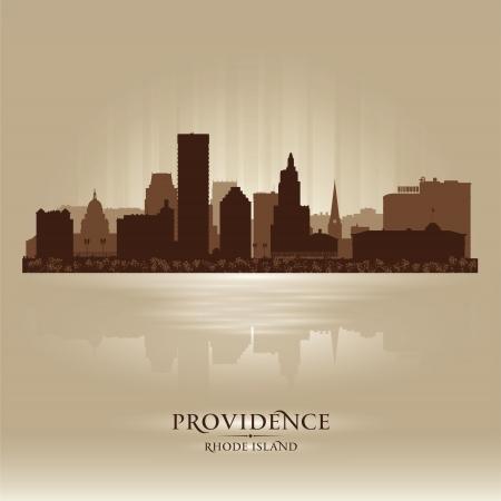 providence: Providence, Rhode Island skyline city silhouette