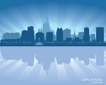 Orlando, skyline city silhouette Illustration