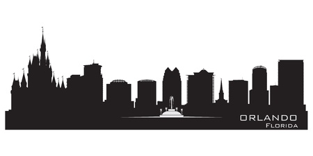 Orlando, skyline. Detailed city silhouette illustration