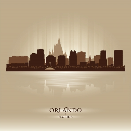 Orlando, skyline city silhouette Stock Vector - 17595886