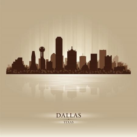 dallas: Dallas, Texas skyline city silhouette