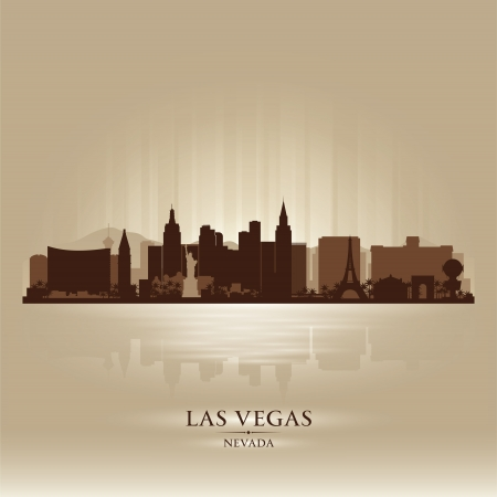 Las Vegas, Nevada skyline city silhouette Illustration