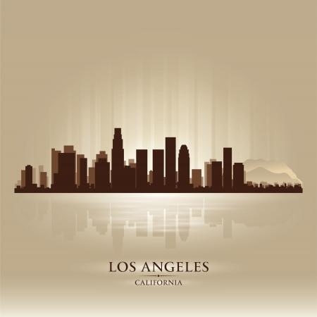 Los Angeles, California skyline city silhouette Stock Vector - 17948675