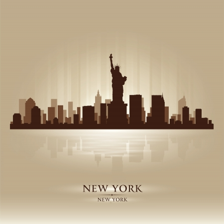 new york skyline: New York skyline city silhouette