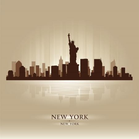 nowy: New York skyline sylwetka miasta