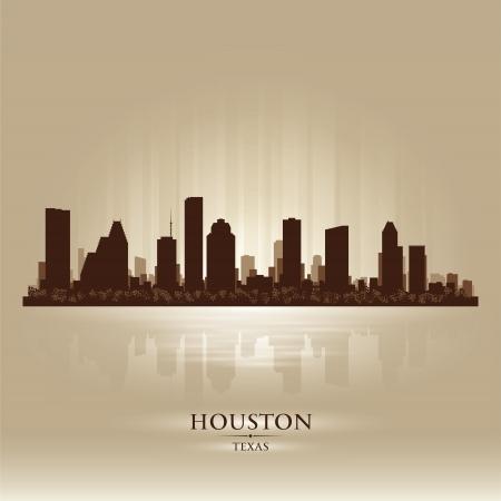 houston: Houston Texas skyline city silhouette