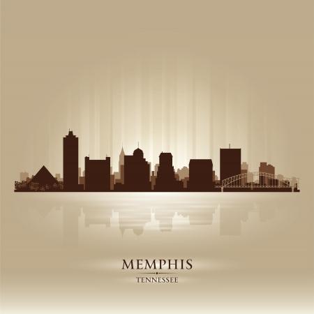 memphis: Memphis Tennessee skyline city silhouette Illustration