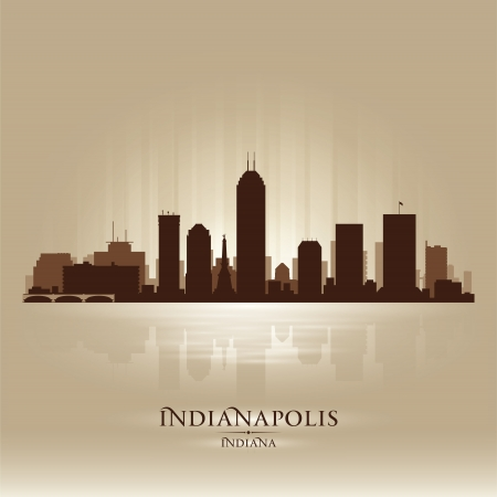 indianapolis: Indianapolis Indiana skyline city silhouette  Illustration