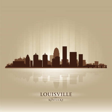 Louisville Kentucky skyline city silhouette  Vector