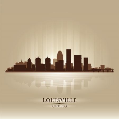 louisville: Louisville Kentucky skyline city silhouette  Illustration