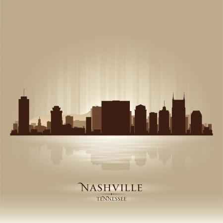 Nashville Tennessee skyline city silhouette Stock Vector - 18069579