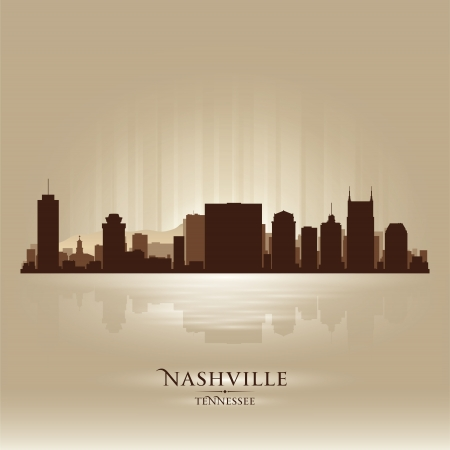 Nashville Tennessee skyline city silhouette Stock Vector - 18069579