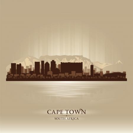 южный: Кейптаун, Южная Африка горизонта силуэт города