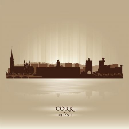 europa: Cork Ireland skyline city silhouette