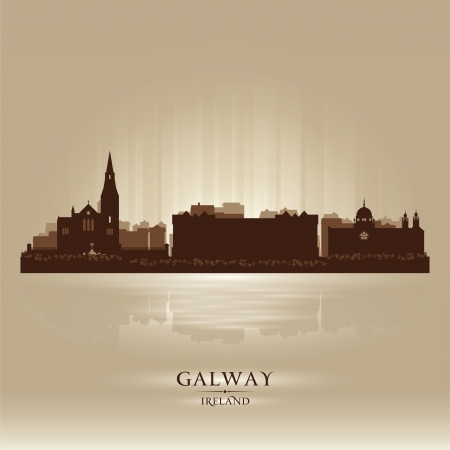 Galway Ireland skyline city silhouette Stock Vector - 18259237