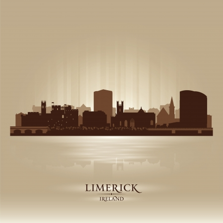 Limerick Ireland skyline city silhouette Stock Vector - 18259232