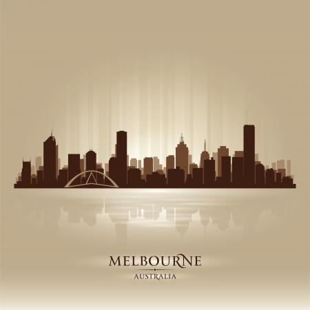 Австралия: Мельбурн Австралия горизонта силуэт города