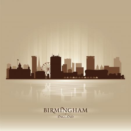 birmingham: Birmingham England skyline city silhouette
