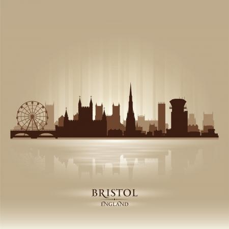 bristol: Bristol England skyline city silhouette Illustration